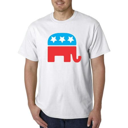 1010 - Unisex T-Shirt Republican Elephant Mascot (The Republican Elephant)