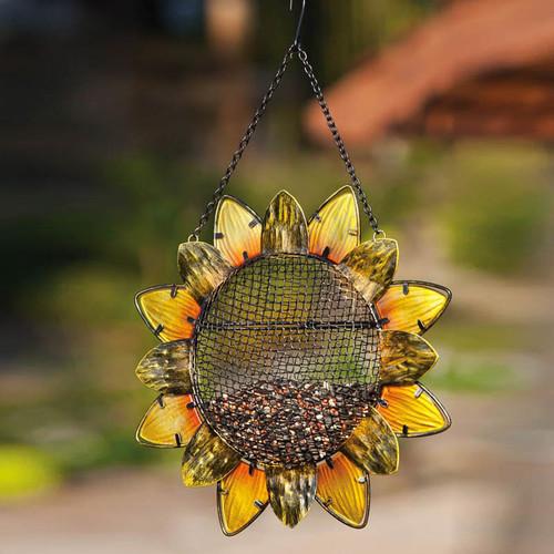 Evergreen Flag & Garden Sunflower Bird Feeder
