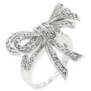 Icon Bijoux R08043R-C01-06 Large Cz Bow Ring (Size: 06)