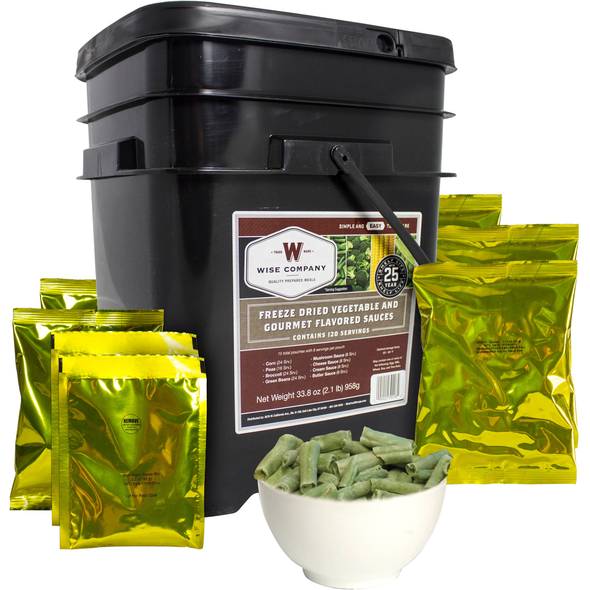 Wise 120 Serving Emergency Freeze Dried Vegetables and Sauces