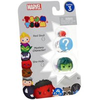 Marvel Tsum Tsum Series 3 Red Skull & She-Hulk Mini Figures, 3 Pack