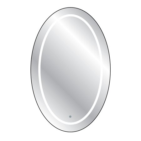 Touch LED Cordless Lighted Vanity Oval Wall Décor Mirror ()