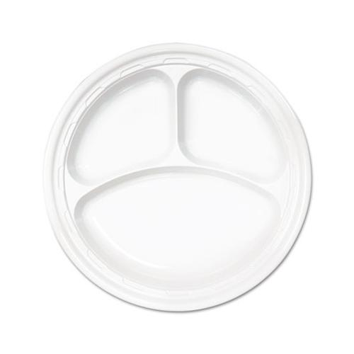 Dart Foam Plate 10.25 In White, 4/125 DCC10CPWF