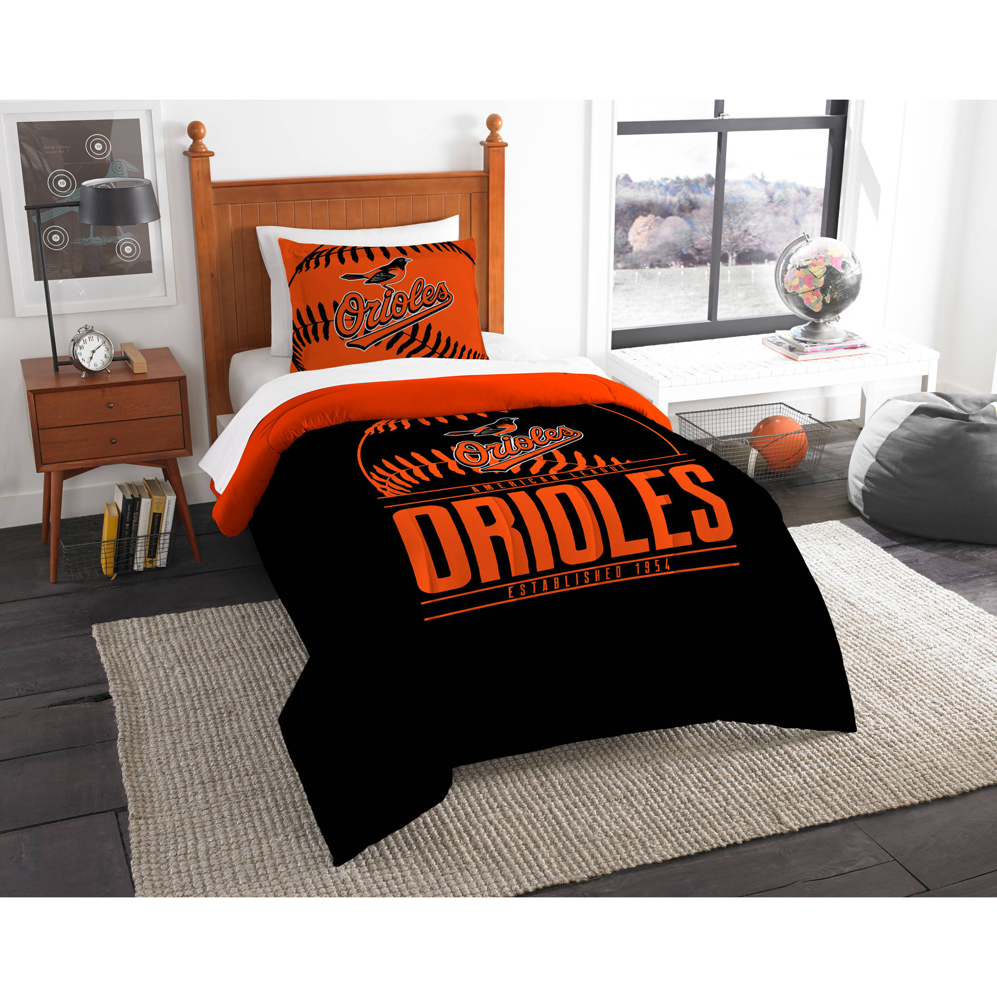 "MLB Baltimore Orioles ""Grand Slam"" Bedding Comforter Set"