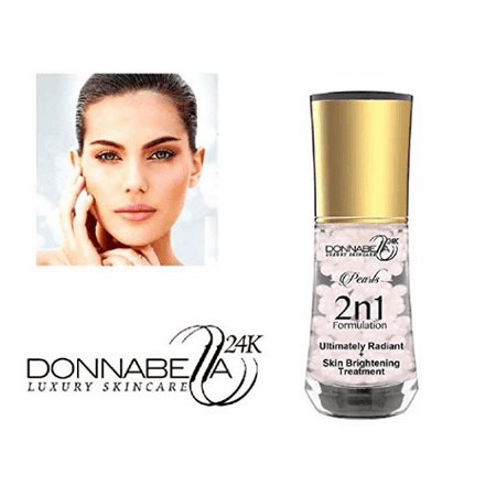 Donna Bella 24K Pro Gold edition Luxury Women's Skincare Pearls 2 n 1 Formulation 40ML-1.35FL.OZ Ultimately Radiant & Skin Brightening Treatment natural formula with organic extract elements