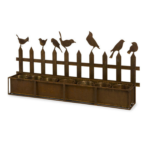 Wildon Home   Ardene Iron Bird Planter