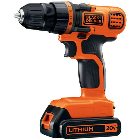 BLACK+DECKER 20-Volt MAX* Lithium-Ion Drill-Driver, LDX120C ()