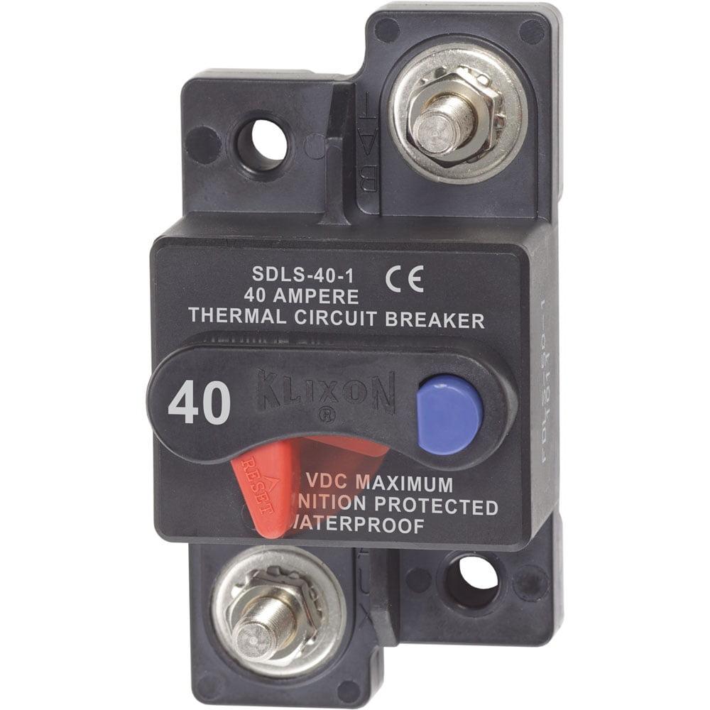 Blue Sea System 13526744 Blue Sea 7172 Klixon Circuit Breaker - Surface Mount 40a