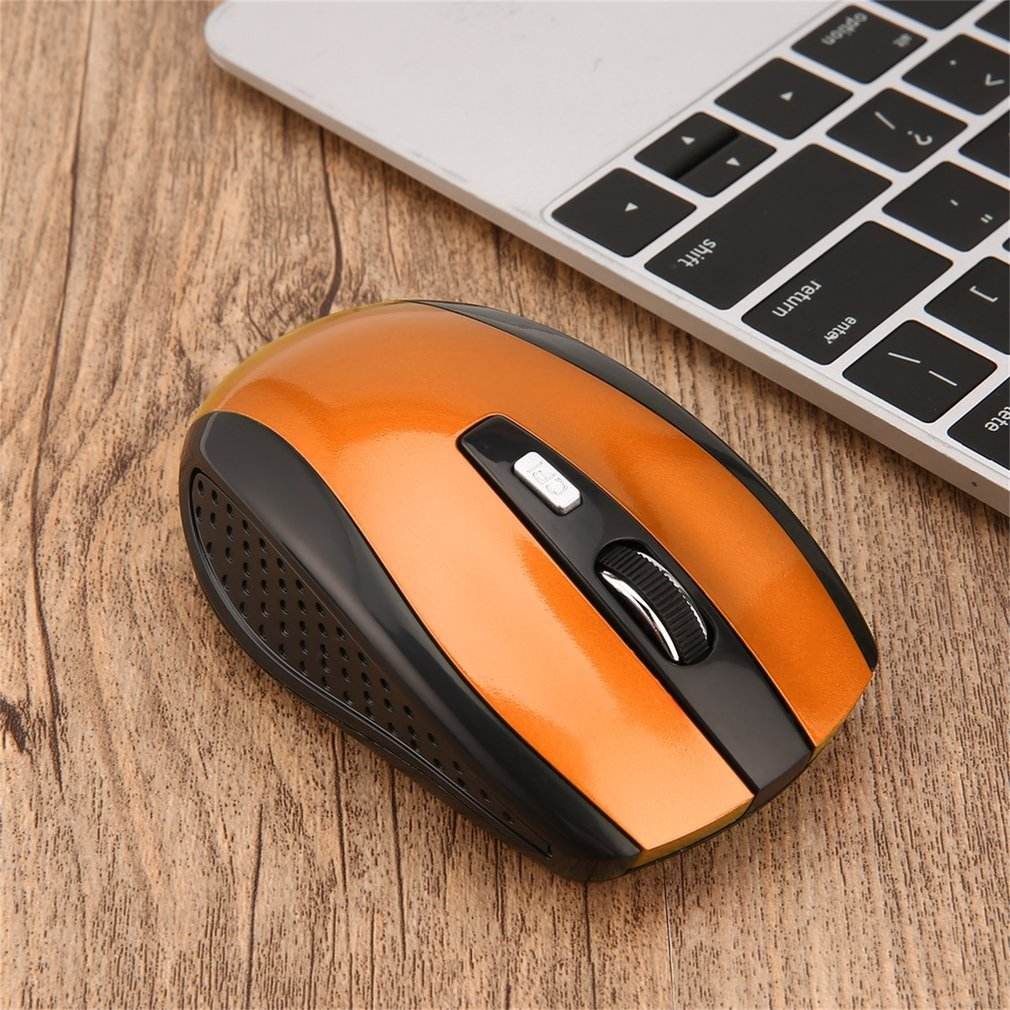 2.4GHz Wireless Mouse Portable Intelligent Gaming Mouse Optical Rolling Gamer Mice USB Receiver for PC Laptop Computer