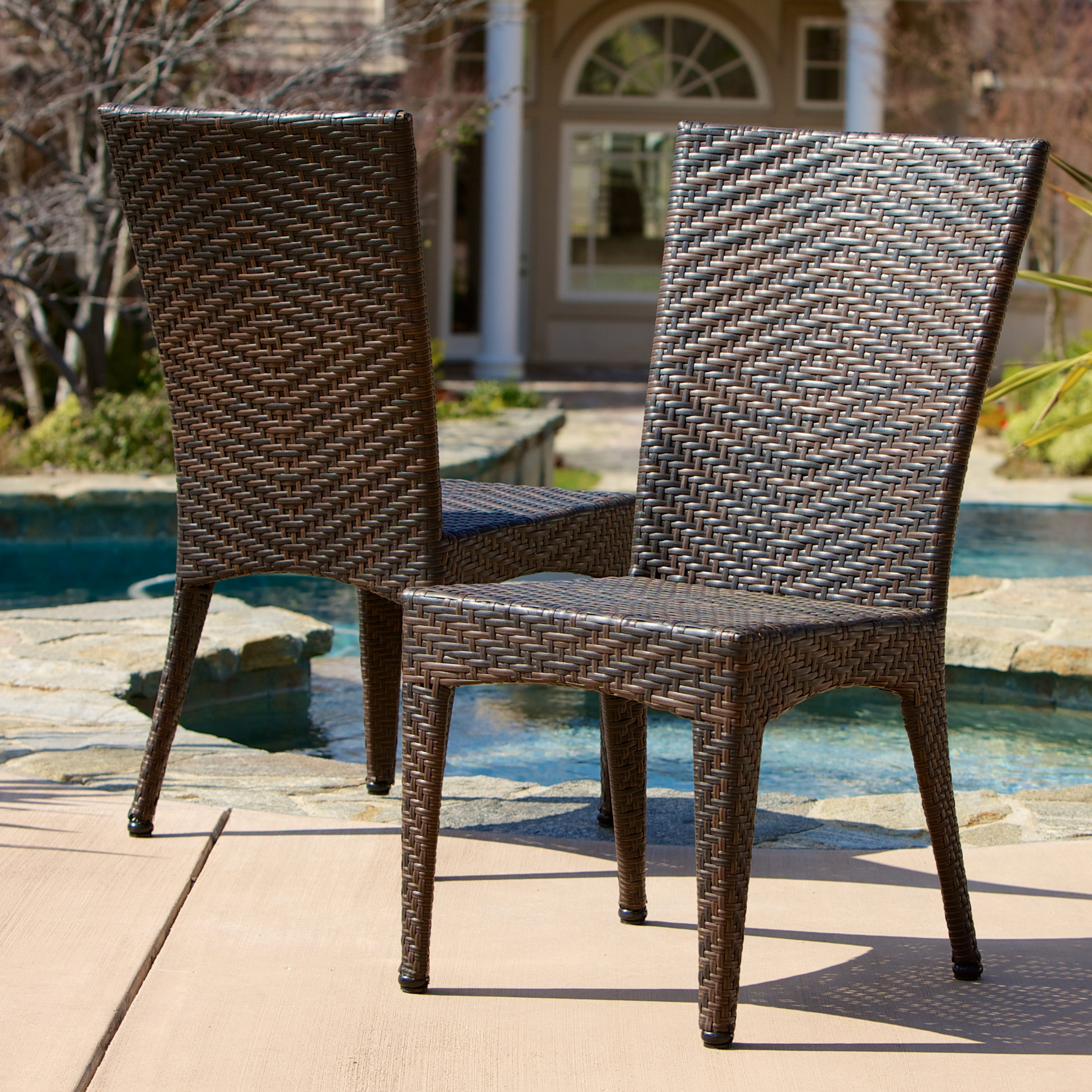 Tuscany Outdoor Wicker Chairs (Set of 2)