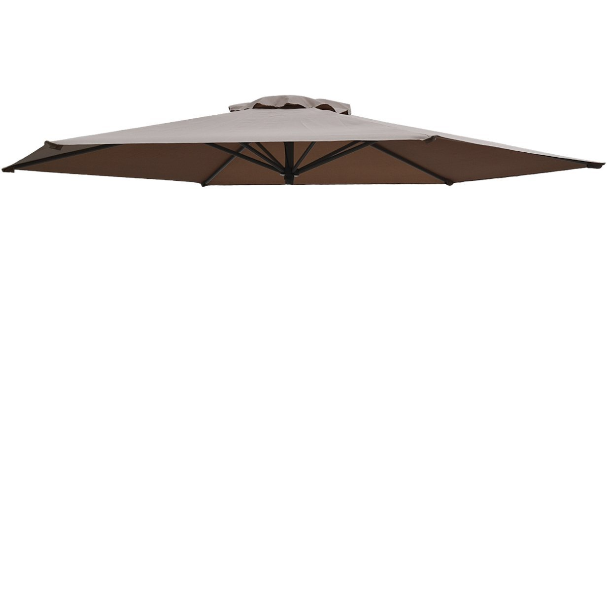 Replacement Patio Umbrella Canopy Cover for 11 5ft 8 Ribs Umbrella Taupe  (CANOPY ONLY)-Taupe