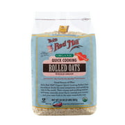 (4 Pack) Bob's Red Mill Organic Quick Cooking Rolled Oats, 32 Oz