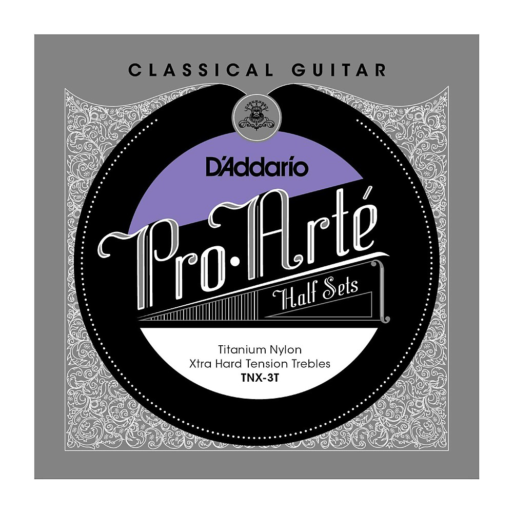 D'Addario TNX-3T Pro-Arte Extra Hard Tension Classical Guitar Strings Half Set