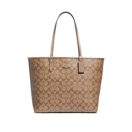Coach Womens Handbag Tote (NEW WOMENS COACH (F39518) REVERSIBLE SIGNATURE ROSE GOLD CITY TOTE BAG HANDBAG )