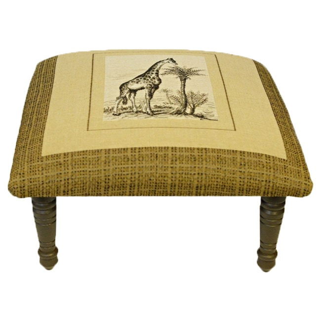 Corona Decor Safari Giraffe Design Footstool Ottoman by Overstock