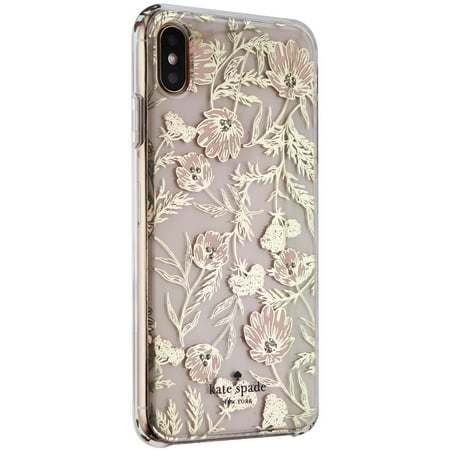 new product ffff1 80b1a Kate Spade Hardshell Case for Apple iPhone XS Max - Blossom Pink/Gold  Foil/Gems (Refurbished)