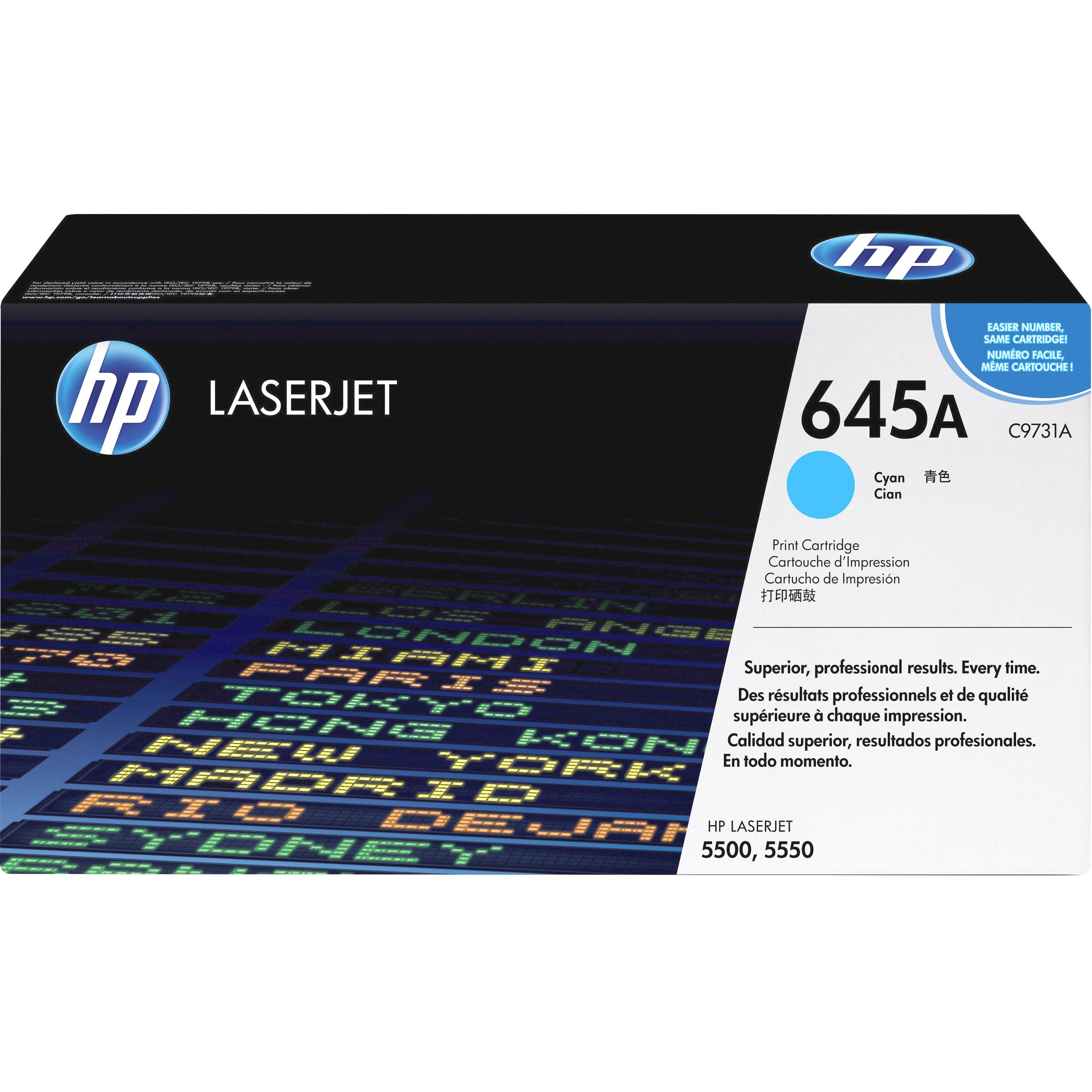 HP 645A (C9731A) Cyan Original LJ Toner Cartridge