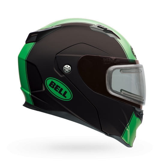 Bell Powersports Revolver EVO Snow Double Shield Helmet Matte Rally Green S  7076243