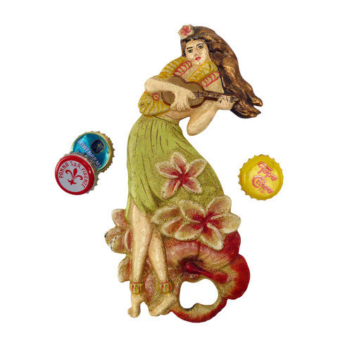 Design Toscano Hawaiian Hula Girl Bottle Opener
