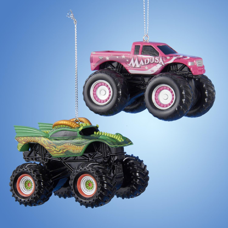 2 25 Monster Jam Hot Pink Madusa Truck Decorative Christmas Ornament Walmart Com Walmart Com