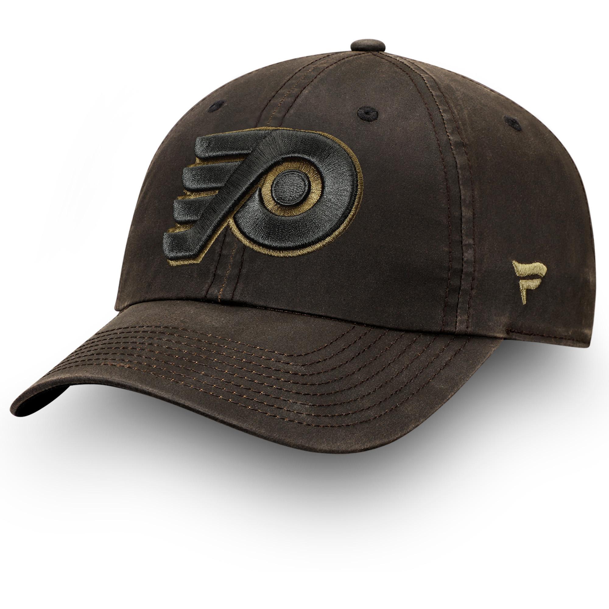 Philadelphia Flyers Fanatics Branded Lux Fundamental Adjustable Hat - Brown/Olive - OSFA