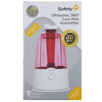 Safety 1st Ultrasonic 360° Cool Mist Humidifier, Raspberry
