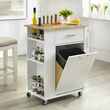 Tms Lima Kitchen Cart White Walmart Com