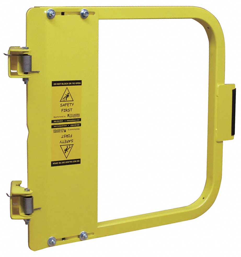 Ps Doors Safety Gate, 25-3 4 to 29-1 2 In, Steel Carbon Steel Yellow LSG-27-PCY by Ps Doors