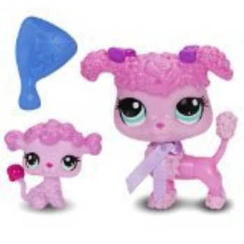 littlest pet shop figures poodle and baby poodle