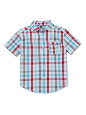 365 Kids from Garanimals Boys Plaid Button Down Shirt, Sizes 4-10