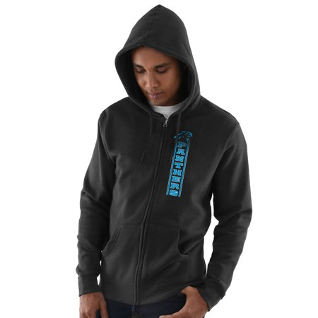 Carolina Panthers Hook and Ladder Full-Zip Hoodie - (Black Carolina Panthers Sweatshirt)