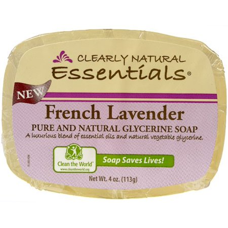 Clearly Natural Glycerine Bar Soap, French Lavender, 4 Oz