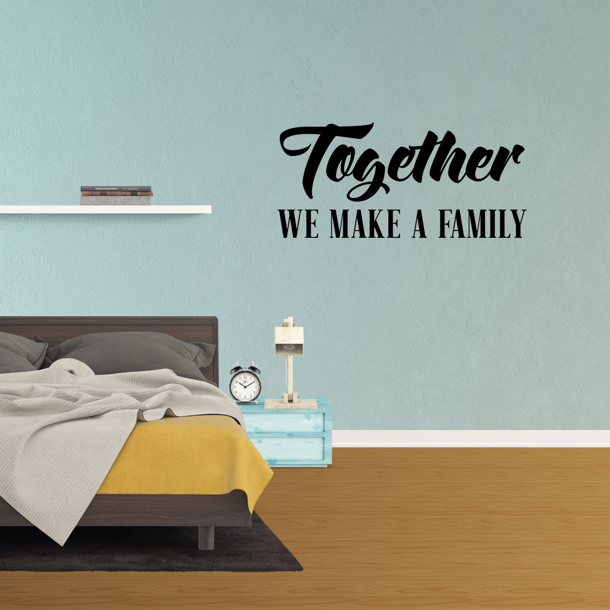 Wall Decal Quote Together We Make A Family Decor Living Room Sticker Bedroom Sign Art XJ177