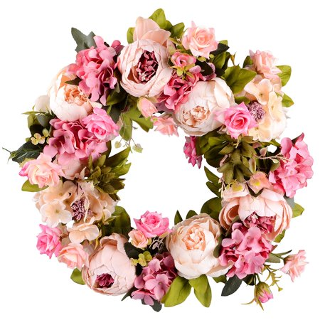 Grape Wreath (Coolmade Artificial Peony Flower Wreath - 15
