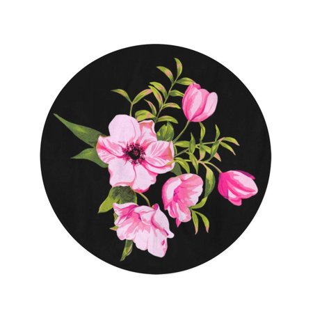 JSDART 60 inch Round Beach Towel Blanket Colorful Abstract Floral Flowers Blossom Nature Pattern Plant Retro Travel Circle Circular Towels Mat Tapestry Beach Throw - image 1 of 2