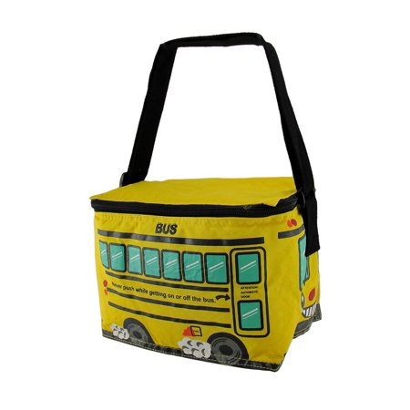 Bright Yellow School Bus Insulated Vinyl Lunch Bag Bus Bar Insulation