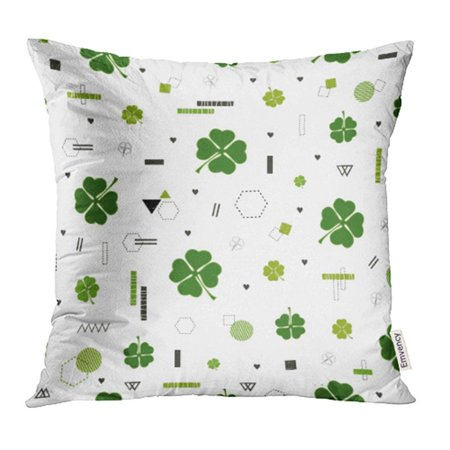 YWOTA Clover St Patrick's Day Cute with Leaves All Are Hidden Under Mask Not Cropped Pillow Cases Cushion Cover 20x20 inch - Pillowcase Halloween Mask