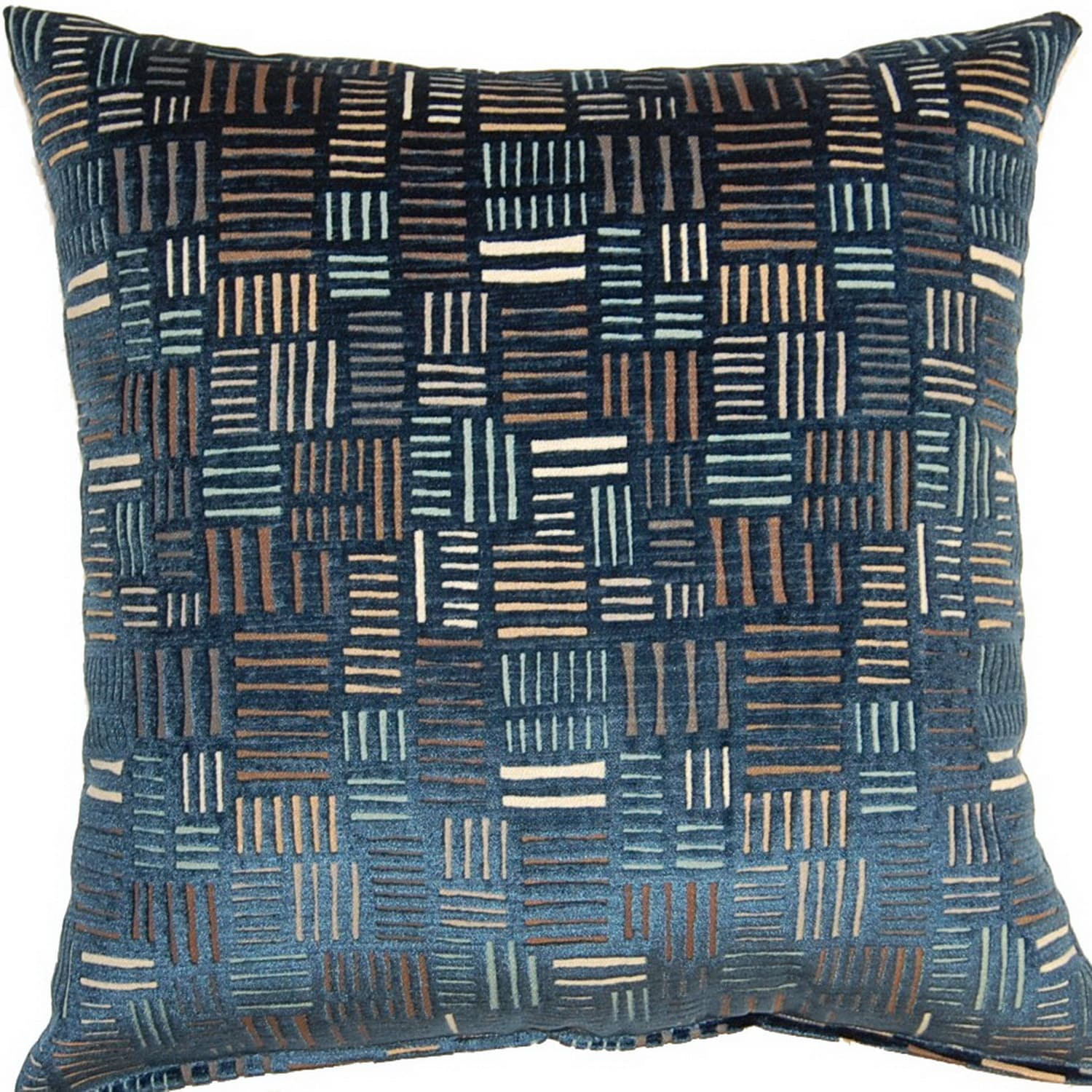 Fox Hill Trading Bleeker Navy 17-inch Throw Pillows (Set of 2)