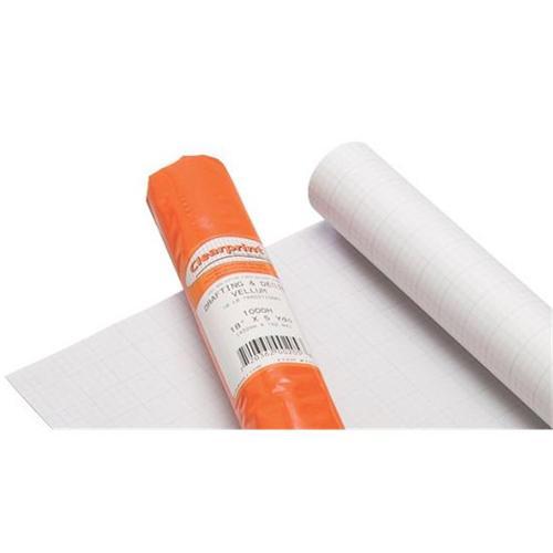 Alvin CP12202528 24'' x 36'' Clearprint 1020 Vellum Grid 8'' x 8'' 100 Sheet Pack