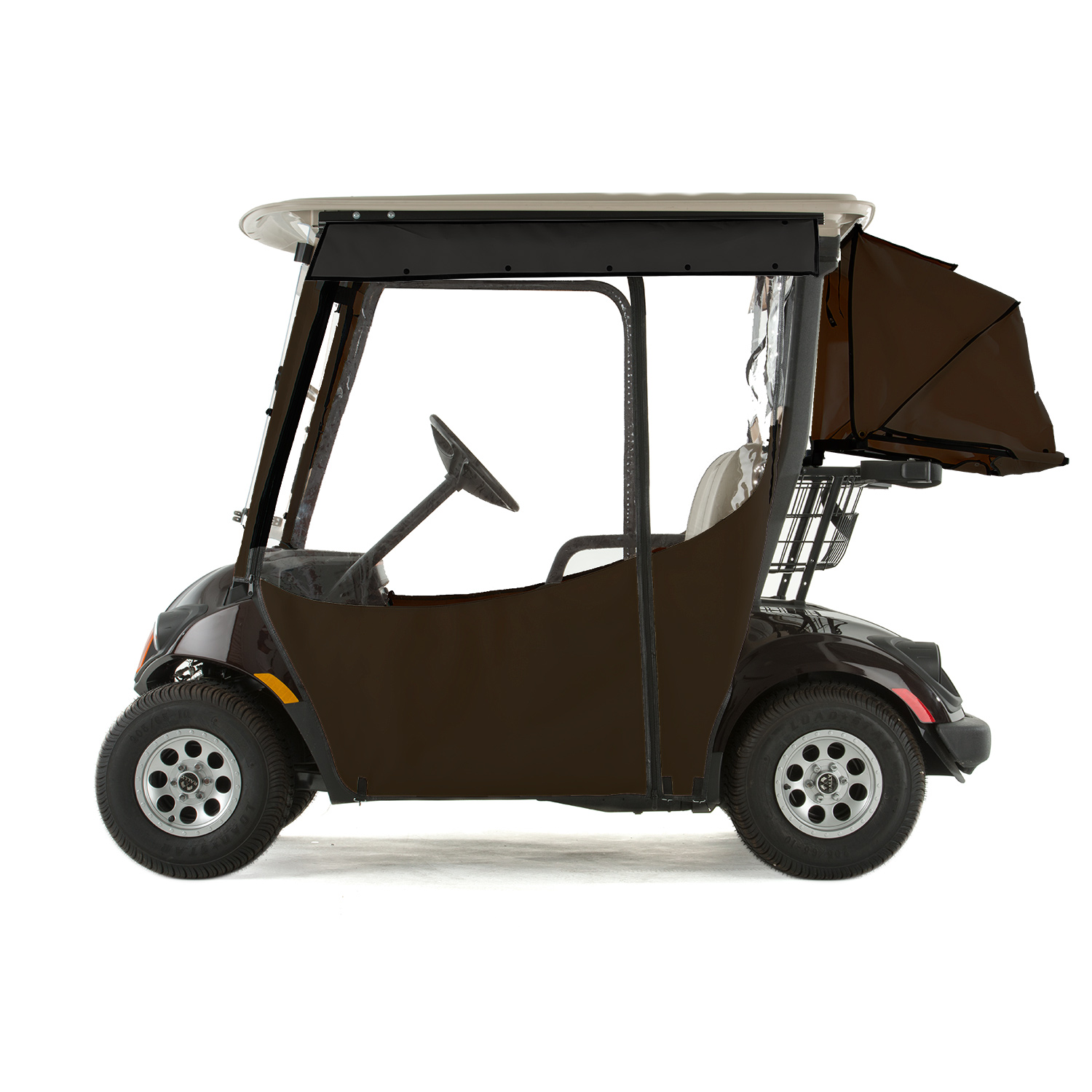 Yamaha Drive 2 Golf Cart PRO-TOURING Sunbrella Track Enclosure - True Brown