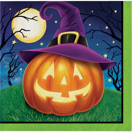 "Club Pack of 192 Orange and Green Halloween Beverage Disposable Party Napkins 5""](Club Eden Halloween Party)"