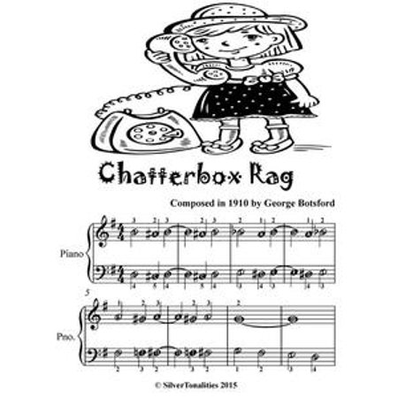 Chatterbox Rag Easiest Piano Sheet Music for Beginner Pianists Tadpole Edition - eBook (This Is Halloween Sheet Music Piano)