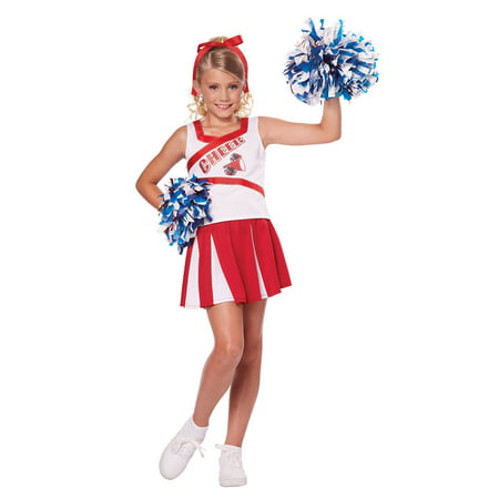 Girls High School Cheerleader Halloween Costume - Patriots Cheerleader Costumes Halloween