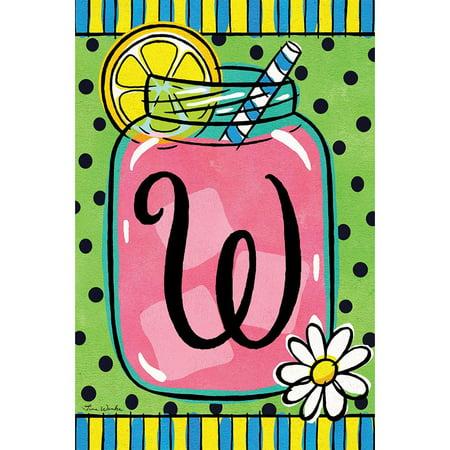 Custom Decor Garden Flag - Lemonade Monogram W