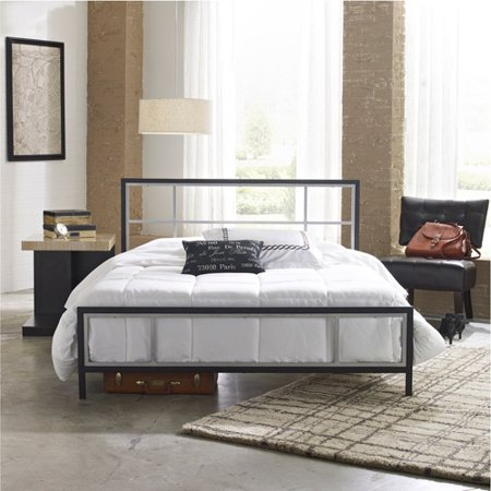 premier karina metal platform bed frame full with bonus base wooden slat system