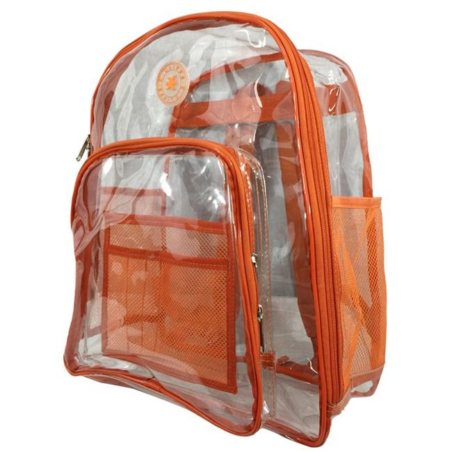 Harvest LM213 Orange Deluxe 17 inch See-through Clear 0. 5 mm.  PVC Backpack