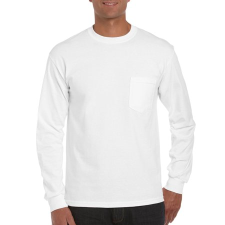 Long Sleeve Pocket Tee (Gildan Mens classic long sleeve pocket t-shirt )
