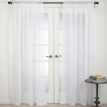 Saro Lifestyle Zephyr Collection Rod Pocket Sheer Window Curtain Panel