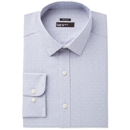 BAR III Mens Small Slim Dobby Geo Texture Button Down Shirt