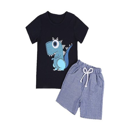 Topumt Baby Boy Girl Little Dinosaur Short Sleeve T-shirt + Shorts Suit Set](Dinosaur In A Suit)